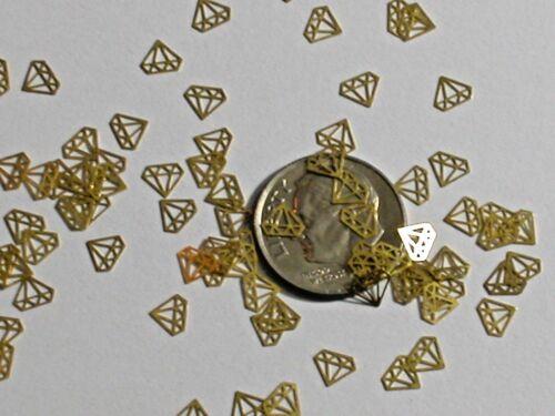 15pc Tiny metal golden Diamond shaped charm fairy dust glitter wedding confetti