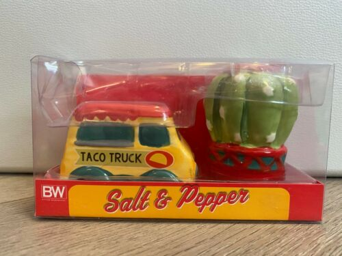 Taco Truck and Cactus Salt and Pepper Shakers