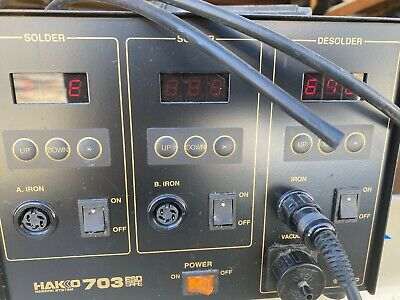 Hakko 703 Dual Solder And De-solder Station Whakko 807 24v 60w De-solder Gun