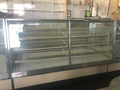 Federal Glass Countertop Display Case Fixture Showcase With Front Lock