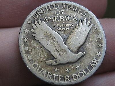 1929 D Silver Standing Liberty Quarter, Fine Details