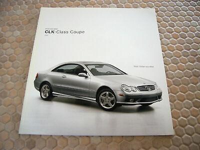 2003 MERCEDES BENZ CLK-CLASS COUPE SALES BROCHURE MANUAL BOOK CLK320 CLK500 2003 Mercedes Benz Clk500 Coupe