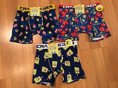 CRAZY BOXER SpongeBob Squarepants Nickelodeon Underwear Briefs S, M, L, XL - NWT