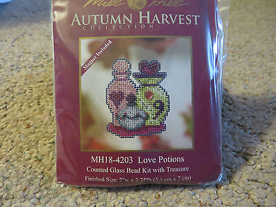 Sale 30% Off Mill Hill Autumn Harvest Collection X-stitch/Bead Kit-Love Potions