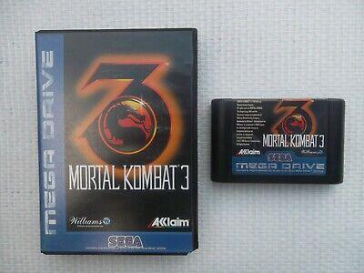 Jeu Megadrive / MD Game Mortal Kombat 3 + boite PAL SEGA genuine original*