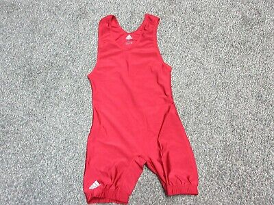 dcacccfbe New Adidas Men's Adult Extra Small XS AXS Wrestling Singlet Nylon/Lycra  Maroon