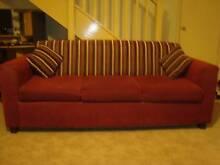 Burgundy Sofa Set (Fabric) Kingswood 2747 Penrith Area Preview