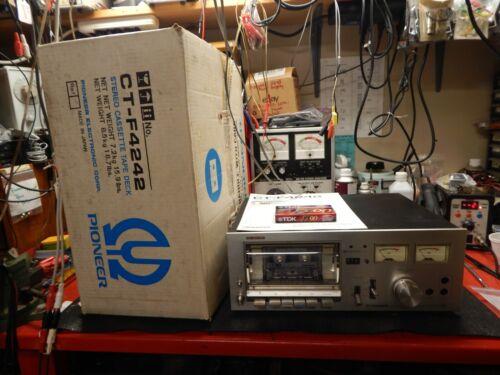 Vintage Pioneer CT-F4242 Stereo Cassette Deck in Original Box