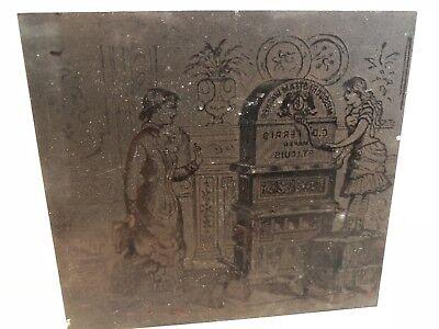 Vtg 1880s Missouri Steam Washer Advertising Printers Block Plate Wood Cooper