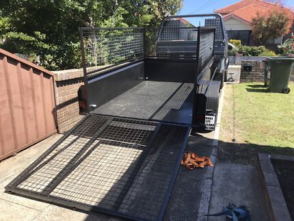 Trailer 8x5 hi side caged with ramp for hire Earlwood Canterbury Area Preview