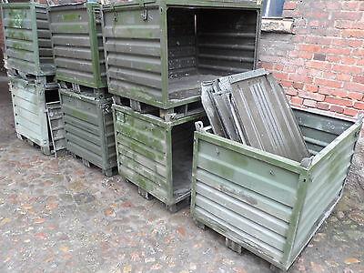 5 BW Bundeswehr Kiste Box Stapelbox Stahlbehälter Stapelbehälter Kranösen-1000kg