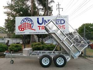 8x5 Tipper Box Galvanised Trailer 3500kg ATM With Cage FULLY Galv Penrith Penrith Area Preview