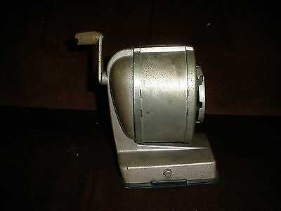Vintage Boston Standard Pencil Sharpener Vacuum Mount Desk 8-hole Chrome Works