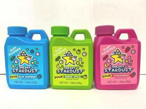 4ct  Sour Sneaky Stardust Powdered Chewing Gum - FREE SHIPPING