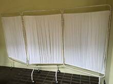 three panel metal frame folding screen on wheels, $60 Darlington Inner Sydney Preview