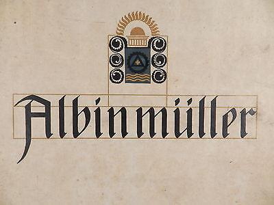 ALBIN MÜLLER Darmstädter Ausstellung 1914 °Jugendstil Art Nouveau Mathildenhöhe