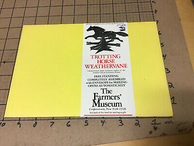 paper TROTTING HORSE WEATHERVANE the farmers museum - 1978 - in package, open
