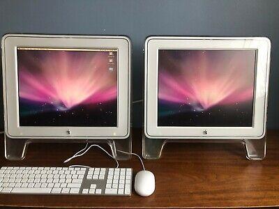 "TWO (2) Apple Studio Display 17"" Monitors - M7649 - VERY GOOD CONDITION!!"