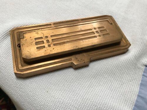 Antique bronze bank slot money door opening hardware American Devise Mnfg CO