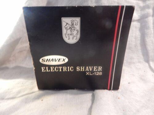 Vintage Shavex XL-128 Electric Razor Shaver in Box