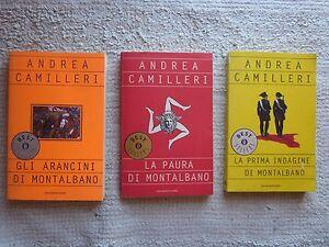 tre libri camilleri gli arancini di montalbano la paura di montalbano la prima i - Italia - tre libri camilleri gli arancini di montalbano la paura di montalbano la prima i - Italia