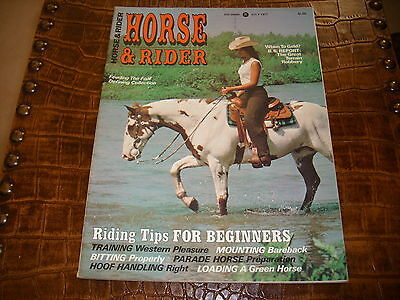 HORSE AND RIDER MAGAZINE JULY 1977