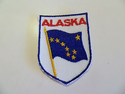 State Of Alaska AK Shield Flag Iron On Embroidered Applique Patch 2.75 in. tall