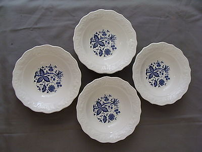 "4 Rare Vintage ""Blue Onion"" Design Cereal Bowls on Rummage"