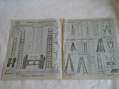 French Vintage Catalogue 1930s Gabriel Morin Ladder makers trade catalogue