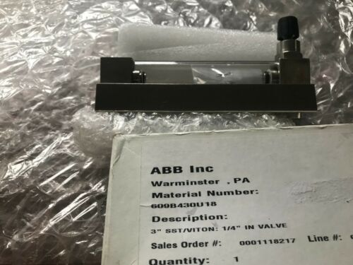 ABB 10A6100 FLOW METER STAINLESS STEEL New