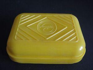 Seifendose Original DDR gelb Plastik SERVESTA