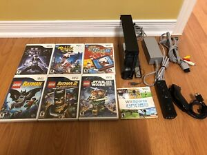 Nintendo Wii gaming console with 7 games