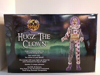 Spirit Halloween Hugz The Clown Animatronic Speaks-Eyes light up-VERY COOL!](Spirit Halloween Clown Prop)