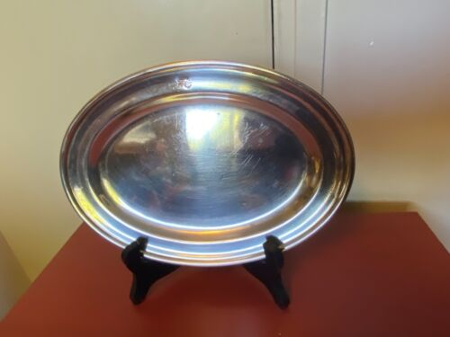 VINTAGE 1960s SILVERPLATE PLATTER OR SERVING DISH SOUTHERN CROSS HOTEL