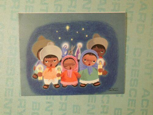 Original 1945 Christmas Card, Walt Disney, Hallmark, Las Posadas Mary Blair Art