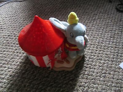Disney Dumbo Circus  Nursery Night Light Stars Moon Soothing Rare lights up