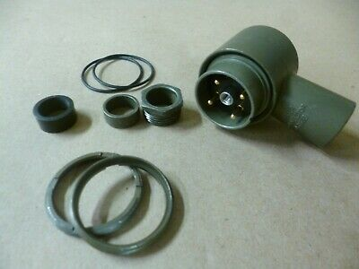 Amphenol Pcd Audio Plug 4c Circular Mil Connector M551813-03 5935-01-167-6095