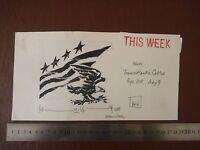 Stars & Stripes Usa Pen / Ink Original By Famous 20th C Illustrator ,bill Hewiso -  - ebay.co.uk