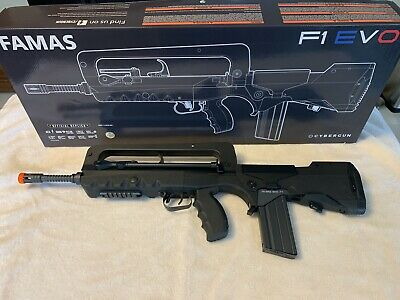 FAMAS (CyberGun) Airsoft Rifle 6mm BBs 377 FPS in Excellent condition!  F1 EVO