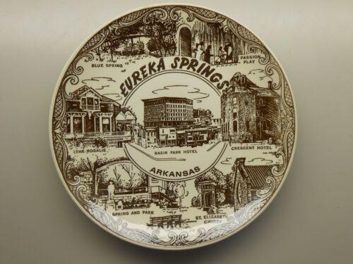 Vintage Souvenir Plate - Eureka Springs Arkansas - Tourist Destination Spots