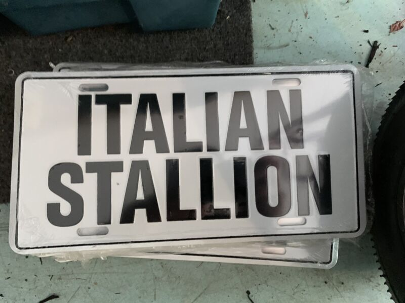 Italian Stallion License Plate NEW OLD STOCK VINTAGE Free Shipping 80's 70's