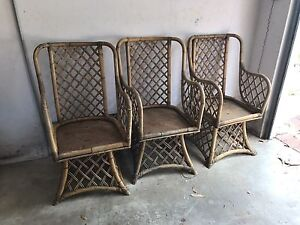 Cane chairs x 3 St Ives Chase Ku-ring-gai Area Preview