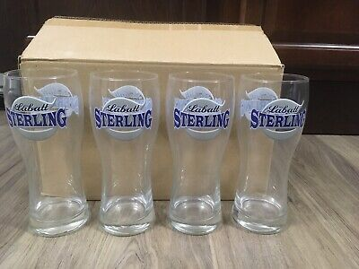 RARE Labatt Sterling Breweries of Canada 20 oz Beer Glasses 12 Pack Case (Glasses Cases Canada)