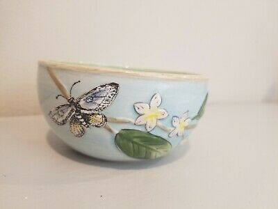 Flowers and Butterflies Fitz and Floyd Classic Candy Dish Bowl](Flowers And Candy)