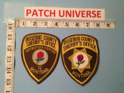 LOT OF 2 DIFFERENT ROSEBUD COUNTY MT SHERIFF SHOULDER  PATCHES  J006