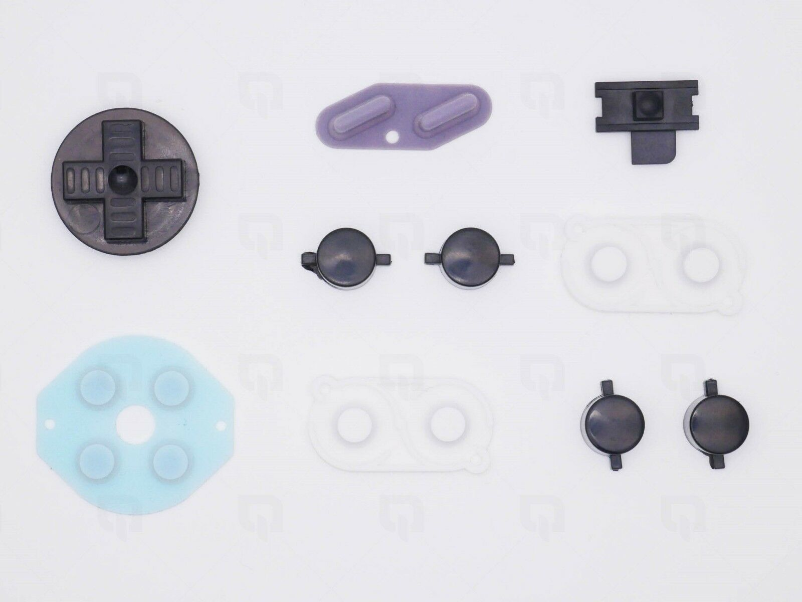 Details about Zero GBZ Black Nintendo Game Boy DMG-01 Buttons Conductive  Rubber Mod Kit pi