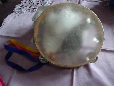 Tamburin Tambourin mit Trommel ORLOB Holz Karneval Showtanz Kostüm - Holz Tanz Kostüm