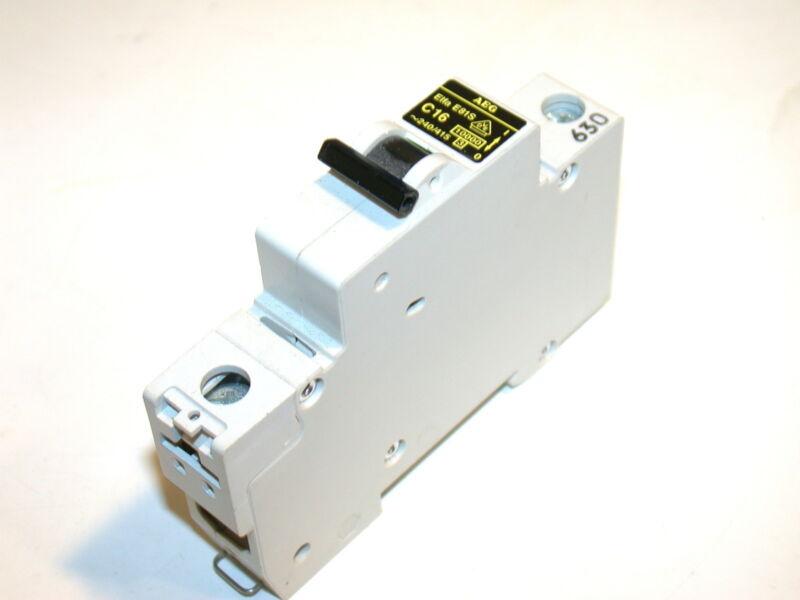 AEG 16 AMP 277/480V  CIRCUIT BREAKERS DIN MOUNT E81S C16