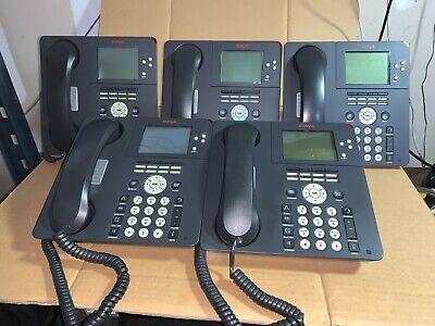 Lot Of 5 Avaya 9650 Office Ip Phones W Handsets Stands
