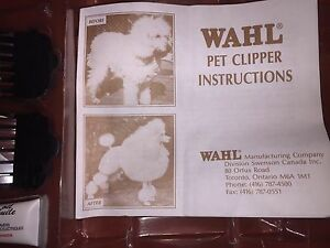 Wahl Pet clipper set - complete, new, never used